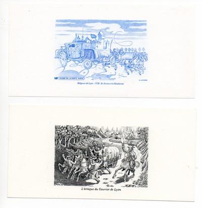 2 gravure de A . Lavergne en taille-douce